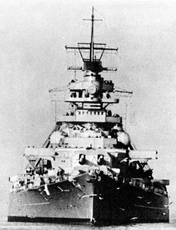 """Bismarck"" w grudniu 1940"